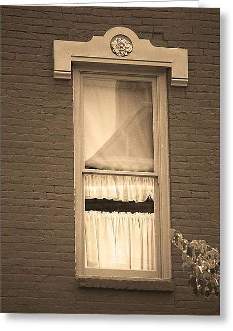 Jonesborough Tennessee - One Window Greeting Card by Frank Romeo