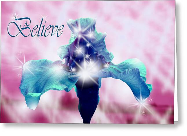 Only If...believe Greeting Card by Cathy  Beharriell