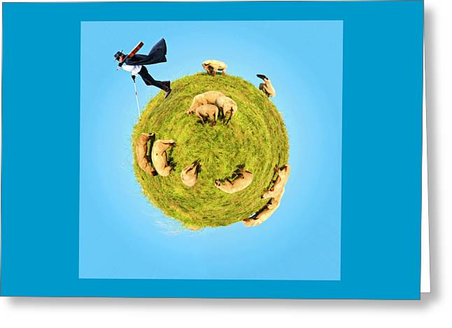 Only One Black Sheep? Greeting Card by Rolando Ruffinengo