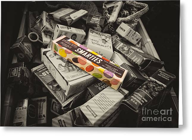 Cardboard Greeting Cards - Only Smarties have the answer  Greeting Card by Rob Hawkins