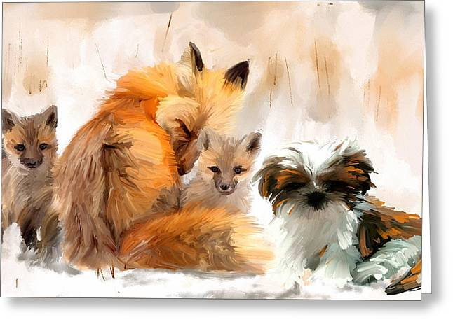 Dogs Digital Art Greeting Cards - Only the very best Greeting Card by Richard Okun