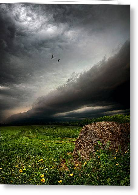 Storm Chasing Greeting Cards - Only Time Greeting Card by Phil Koch