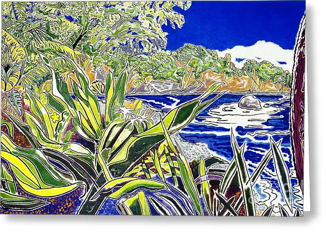 Hamakua Greeting Cards - Onomea Greeting Card by Fay Biegun - Printscapes