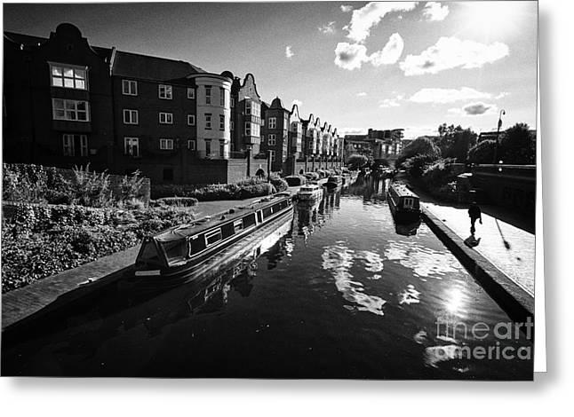 oozells street loop area birmingham canal navigations brindleys old main line Birmingham UK Greeting Card by Joe Fox