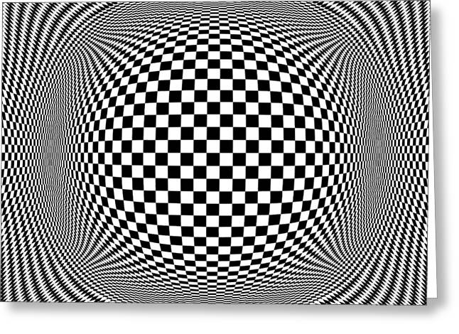 Caruso Greeting Cards - Op Art 1 Greeting Card by Anthony Caruso