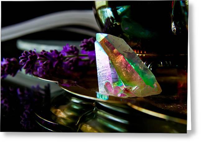 Gypsy Greeting Cards - Opal Aura Quartz 1 Greeting Card by Michelle J Sergi