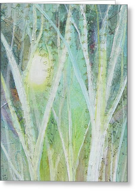 Opalescent Twilight I Greeting Card by Shadia Zayed