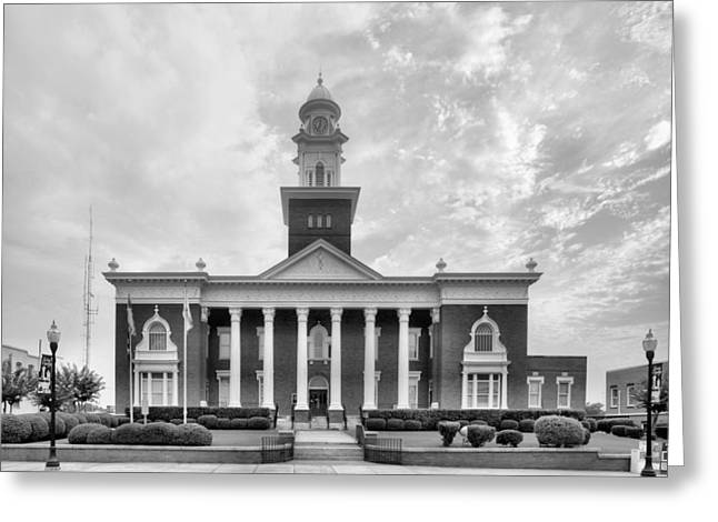 Town Square Greeting Cards - Opelika Alabama Greeting Card by JC Findley