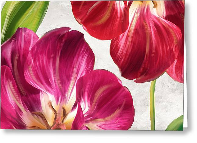 Painted Flowers Greeting Cards - Open Arms Greeting Card by Mindy Sommers