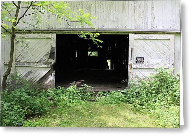 Barn Door Greeting Cards - Open Barn Door Greeting Card by Jeff Roney