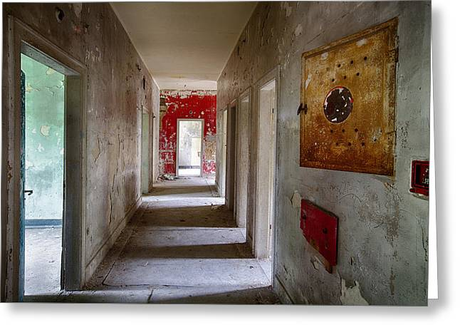 Ghost Castle Greeting Cards - Open Doors - Abandoned Building Greeting Card by Dirk Ercken