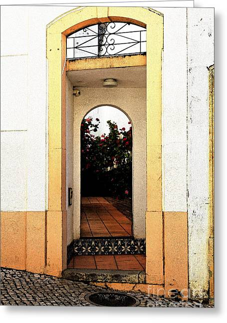 Looking In Greeting Cards - Open doorway Greeting Card by Louise Heusinkveld