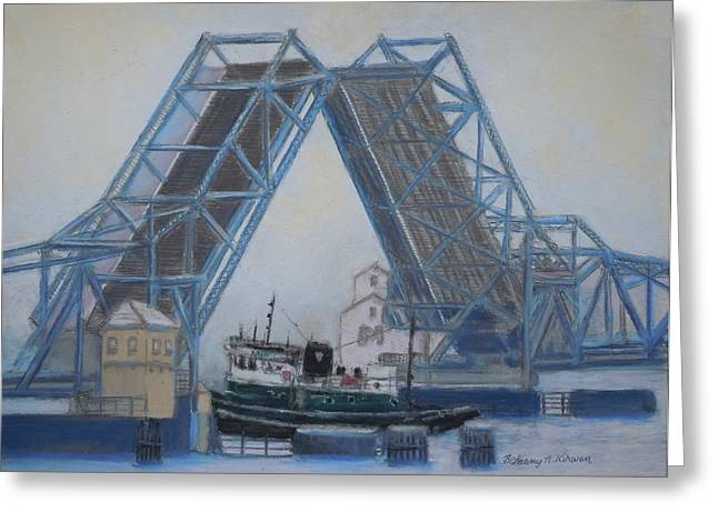 Recently Sold -  - Bay Bridge Greeting Cards - Open For Business Greeting Card by Bethany Kirwen