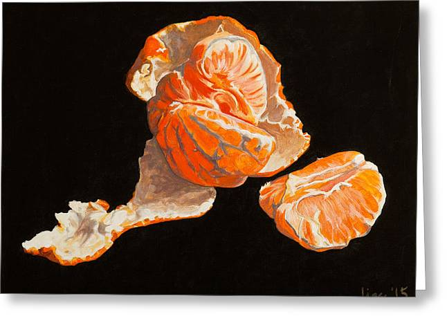 Tangerine Greeting Cards - Open Hand Greeting Card by Lissa Banks