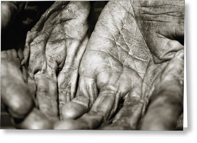 Open Hands Greeting Card by Skip Nall
