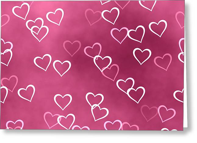 Dusky Pink Greeting Cards - Open Hearted Design Greeting Card by Georgiana Romanovna
