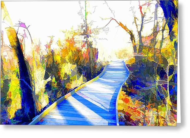 Office Space Greeting Cards - Open Pathway Meditative Space Greeting Card by Robyn King