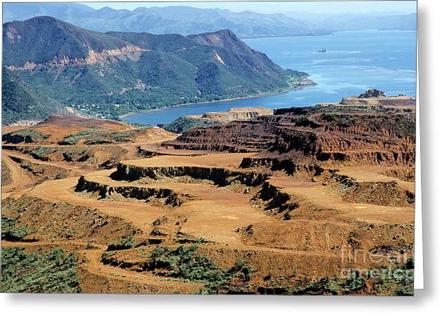 Open-pit Mining At Poro In New Caledonia Greeting Card by Sami Sarkis