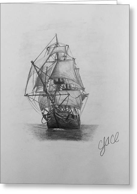 Pirate Ships Greeting Cards - Open Seas Greeting Card by Cody Cole