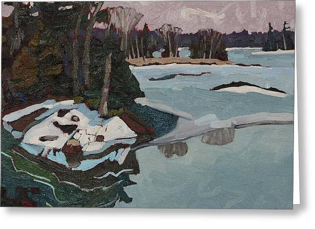 Canada Greeting Cards - Open Water Greeting Card by Phil Chadwick