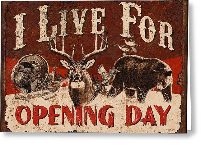 Opening day Sign Greeting Card by JQ Licensing