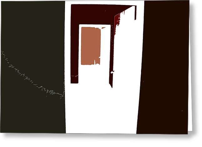 Abstract Shapes Greeting Cards - Opening Doors to the Future 2 Greeting Card by Lenore Senior