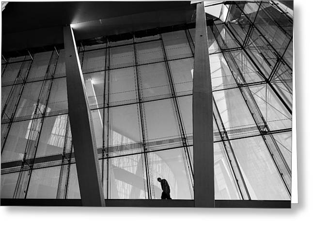 Opera House - Oslo, Norway - Black And White Street Photography Greeting Card by Giuseppe Milo