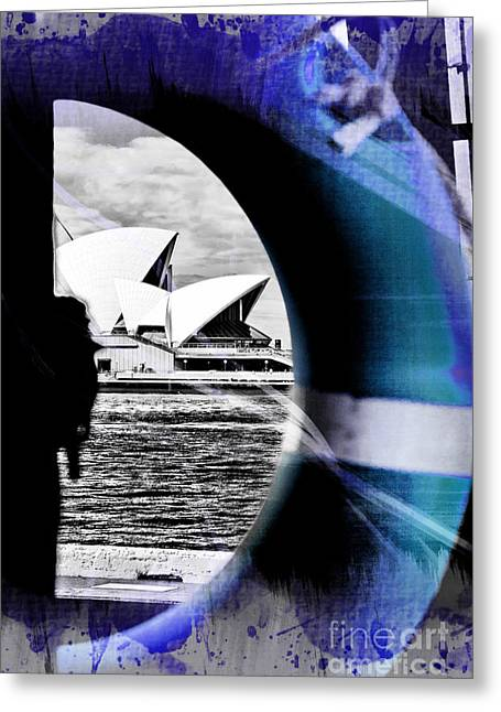 Opera House Rescue Greeting Card by Az Jackson