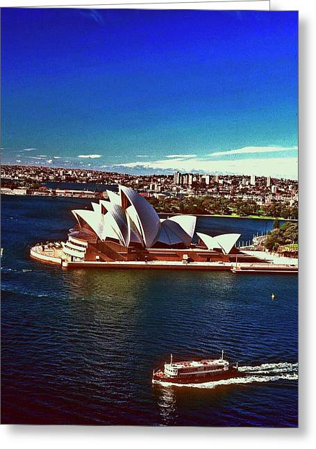 Opera House Sydney Austalia Greeting Card by Gary Wonning