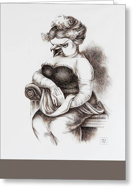 Opera Singer Greeting Card by Yvonne Wright
