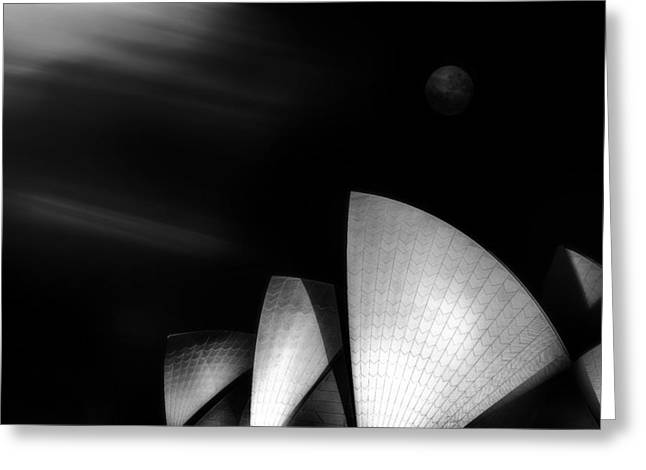 Sydney Harbour Greeting Cards - Operatic Greeting Card by Steven Fudge
