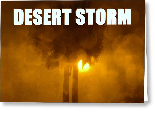 Operation Desert Storm  Greeting Card by David Lee Thompson