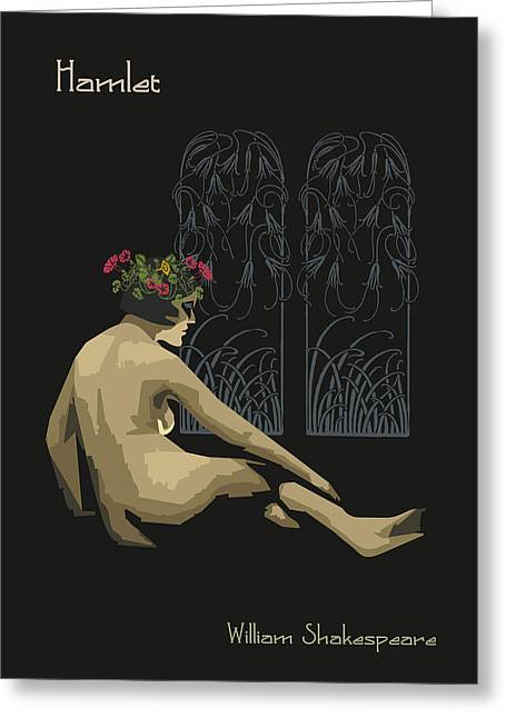 Prettiness Greeting Cards - Ophelia Hamlet Greeting Card by Joaquin Abella