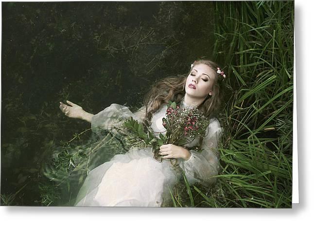 Preraphaelite Greeting Cards - Ophelia Greeting Card by Helena Lavrenkova