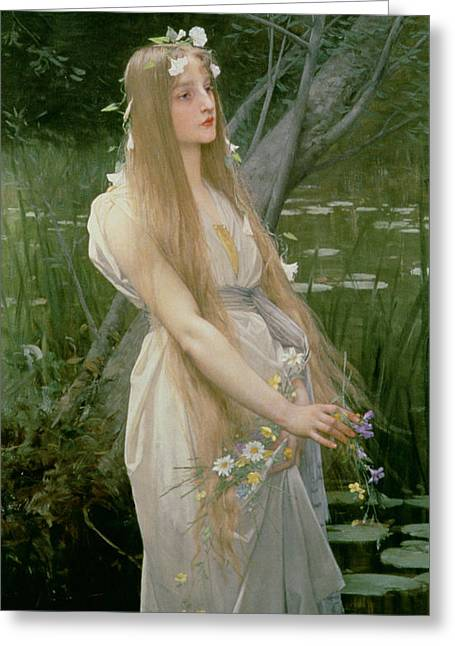 Ophelia Greeting Card by Jules Joseph Lefebvre