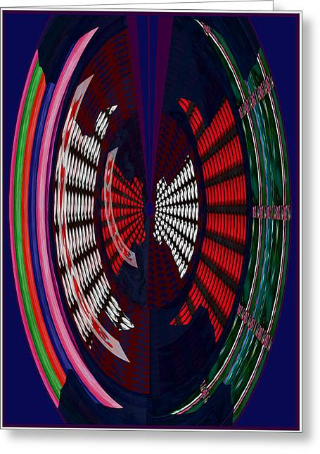 Abstract Digital Mixed Media Greeting Cards - Opposit Arc Pattern Abstract Digital Graphic Art Interior Decorations buy painting print poster pill Greeting Card by Navin Joshi