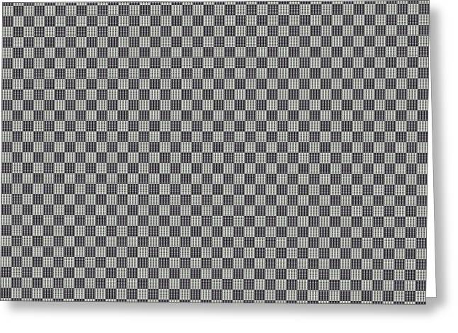 Light And Dark Greeting Cards - Opposites Attract Checkerboard 10 X 10 Greeting Card by Helena Tiainen