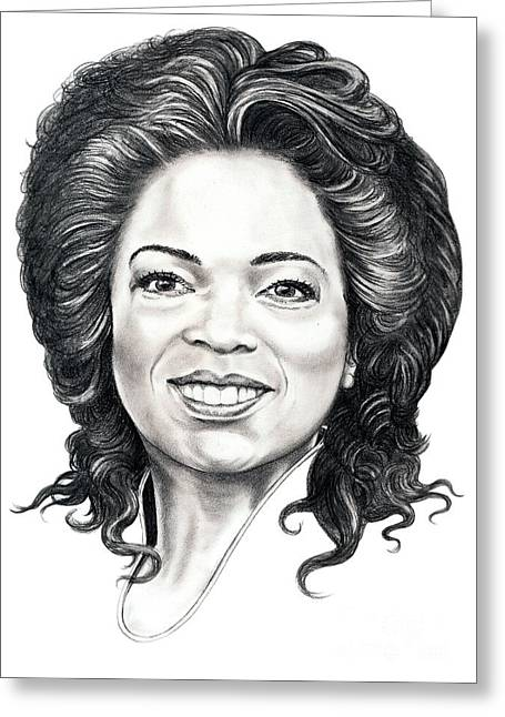 Oprah Winfrey  Greeting Card by Murphy Elliott