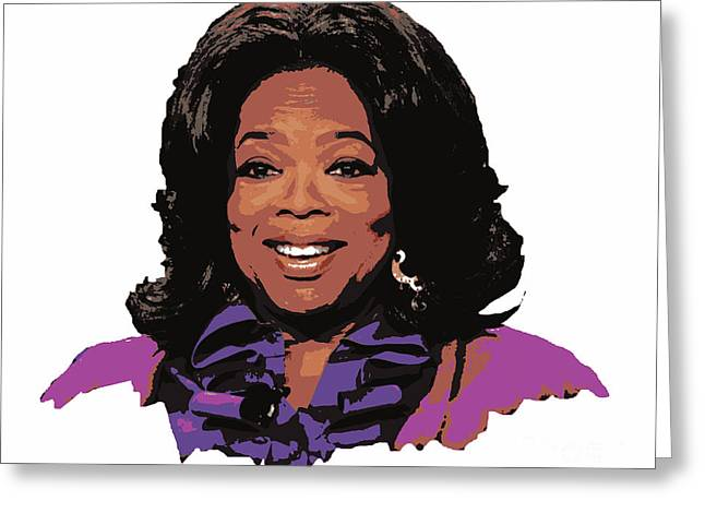 Oprah Winfrey  Greeting Card by Pd