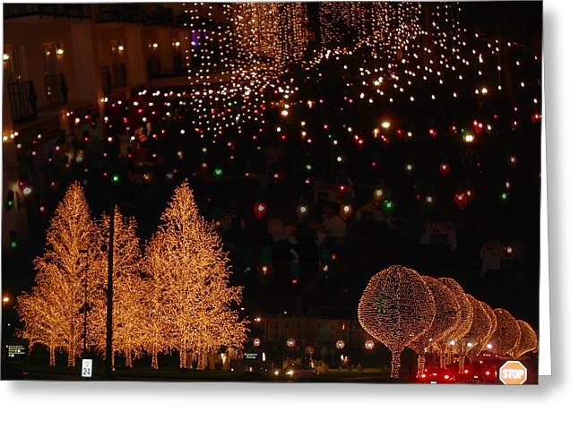 Nashville Tennessee Greeting Cards - Opryland Nightscape Greeting Card by Anne Cameron Cutri