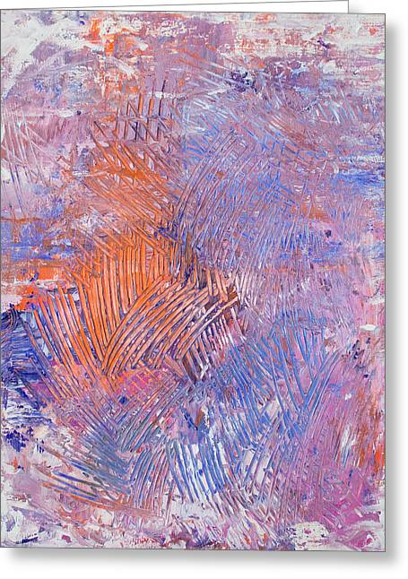 Abstract Expressionist Greeting Cards - Opt.48.15 Close To My Heart Greeting Card by Derek Kaplan