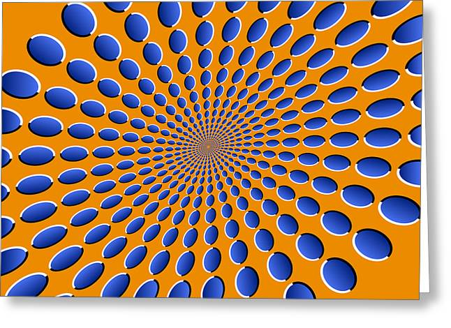 Op Art Greeting Cards - Optical Illusion Pods Greeting Card by Michael Tompsett