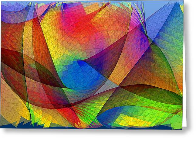 Simulation Greeting Cards - Optical Pattern Greeting Card by Eric Heller