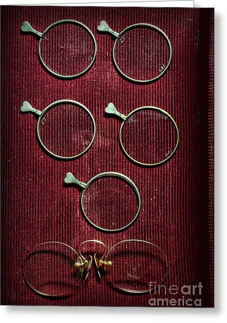 Pairs Greeting Cards - Optician - Optometrist Lens Greeting Card by Paul Ward