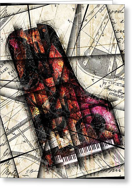 Piano Digital Art Greeting Cards - Opus 1 Greeting Card by Gary Bodnar