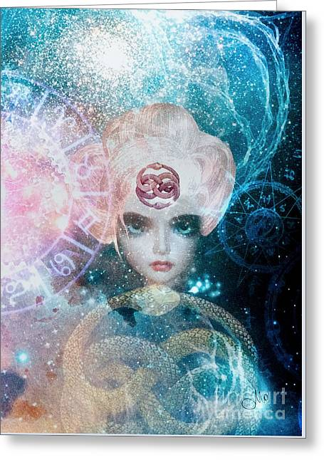 Oracle Greeting Cards - Oracle Greeting Card by Mo T