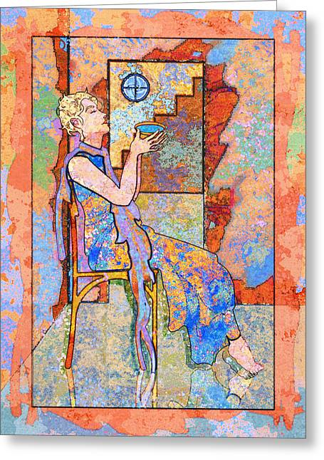 Mary Ogle Greeting Cards - Oracle of Delphi Greeting Card by Mary Ogle