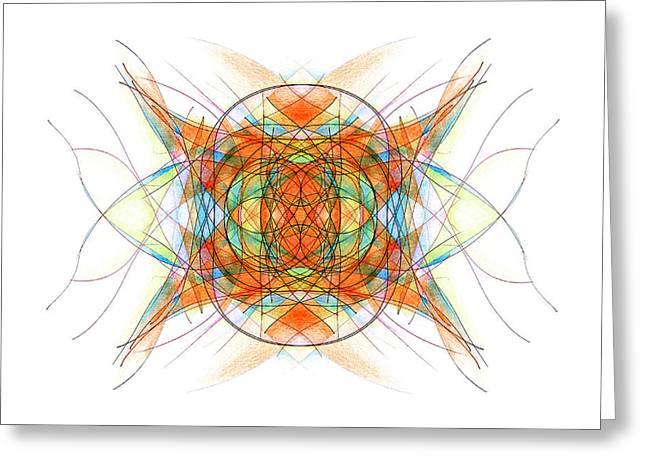 Chakra Rainbow Greeting Cards - Orange Greeting Card by Alla Ilencikova