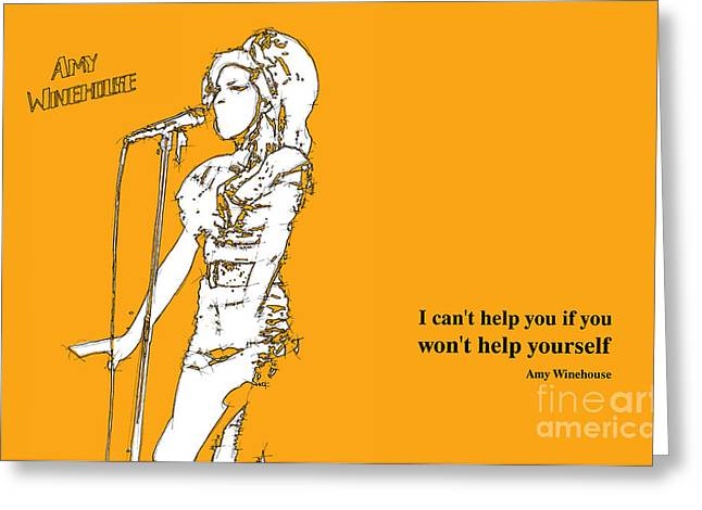 Orange Amy 2 Greeting Card by Pablo Franchi