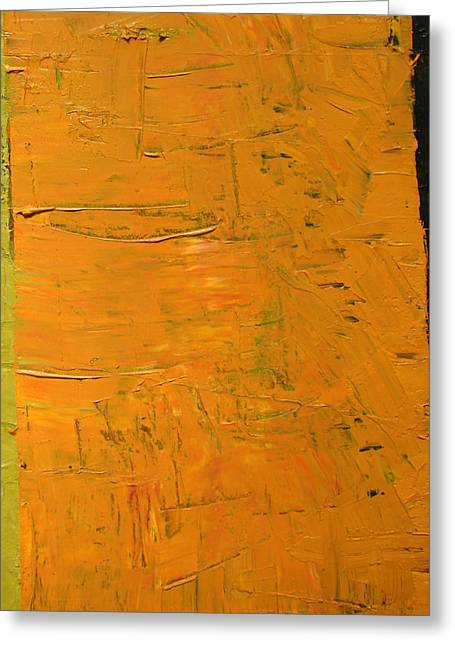 Orange And Brown Greeting Card by Michelle Calkins